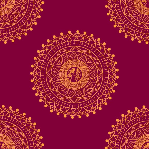 Indian patterns wallpaper
