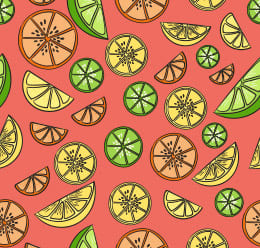 Cool Summer Seamless Fruit Pattern
