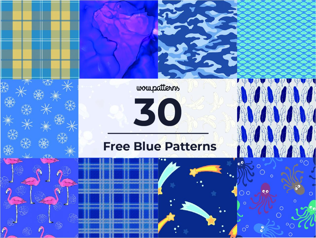 best free blue background vector seamless pattern thumbnail