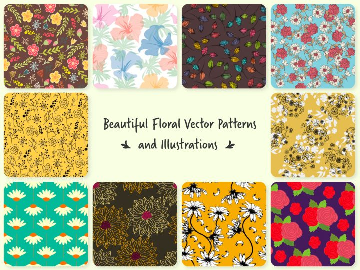Thumbnail of different floral design patterns