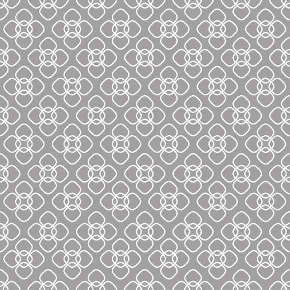 Intersecting curved lines vector pattern. Floral ornament background