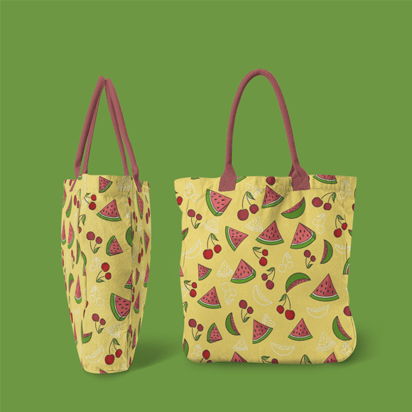 Watermelon and Mango Pattern Hand Bags