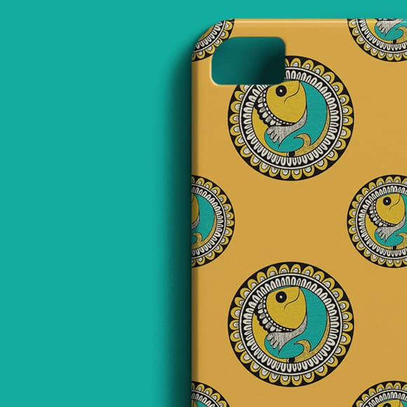 Indian Ethnic Pattern with a Fish Design Phone Case