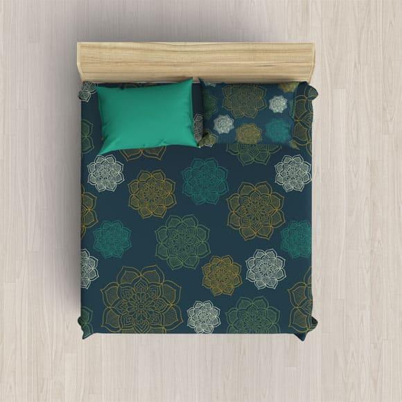 Multicolored Block Print Blanket