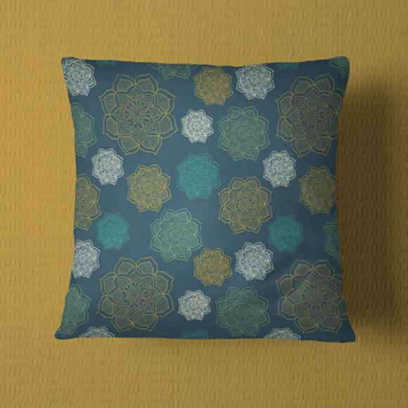 Multicolored Block Printed Pillow