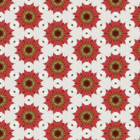 Red sunflowers seamless pattern