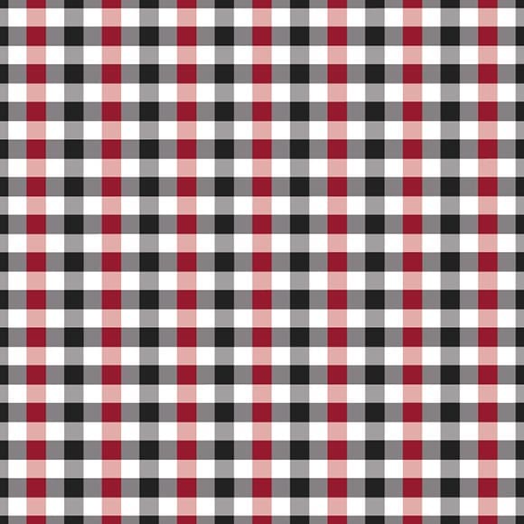 Red and Black Tattersall Check Vector Pattern