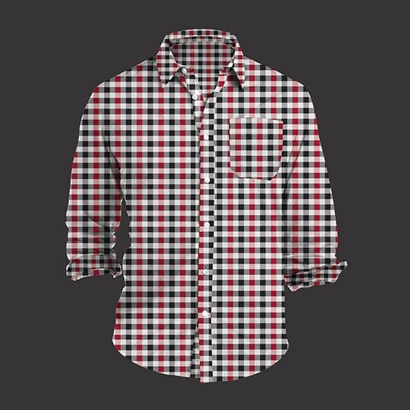 Red and Black Tattersall Check Shirt