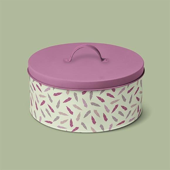 Seamless Feather Pattern Tiffin Box