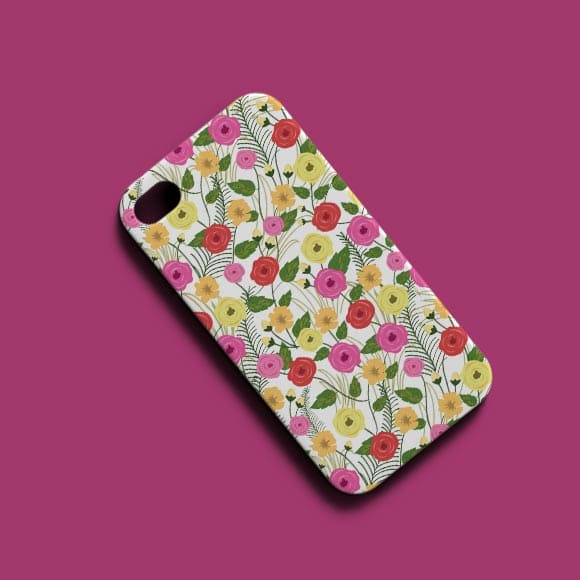 Colorful Rose Floral Phone Case