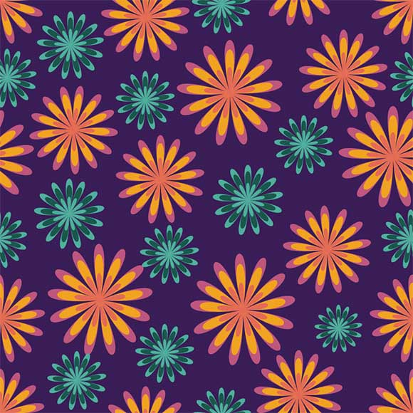 Colorful modern floral seamless vector pattern
