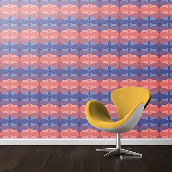 Abstract geometric shapes wall texture