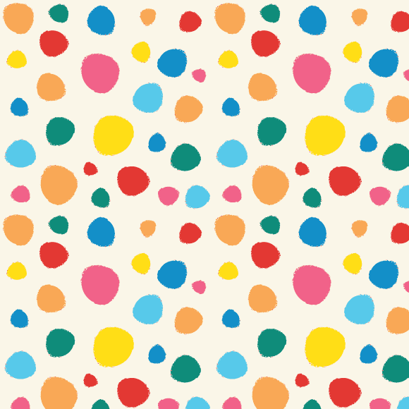 Colorful abstract dot and circles icons and seamless vector pattern
