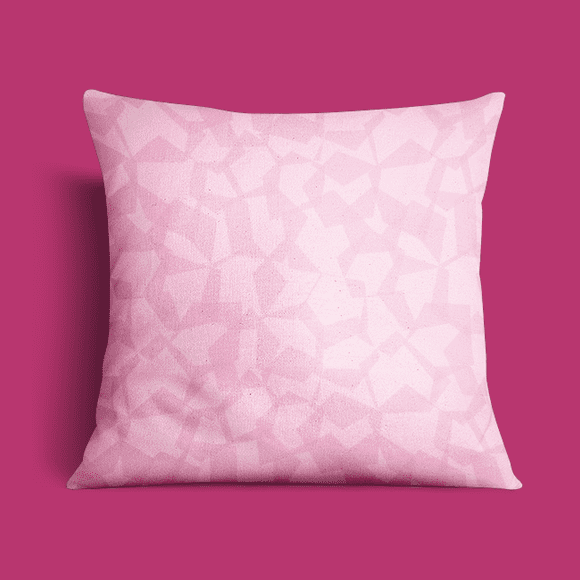 Pink Geometric Vector Pattern on Pillow Cover