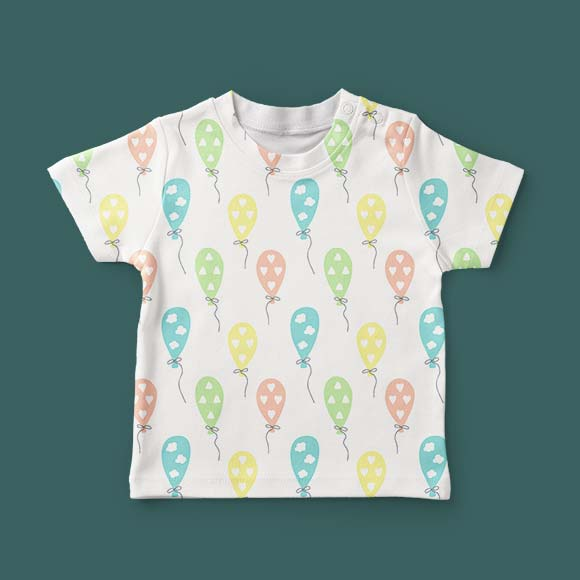 Air balloon print kids t-shirt