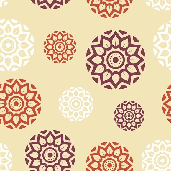 Ajrakh Block Printed Vector Pattern