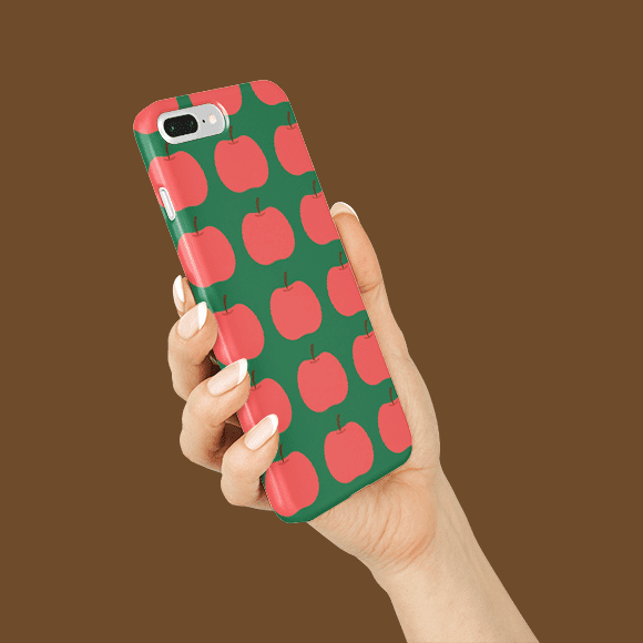 Apple Fruit Print Phone Case
