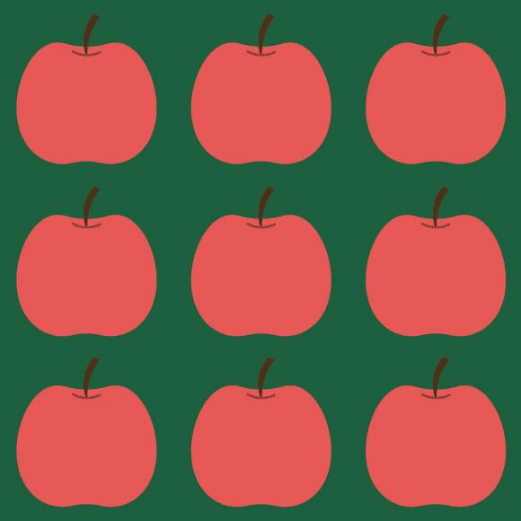 Apple Fruit Vector Pattern