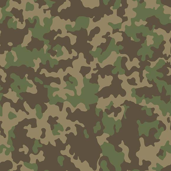 Green and brown camouflage seamless vector pattern.