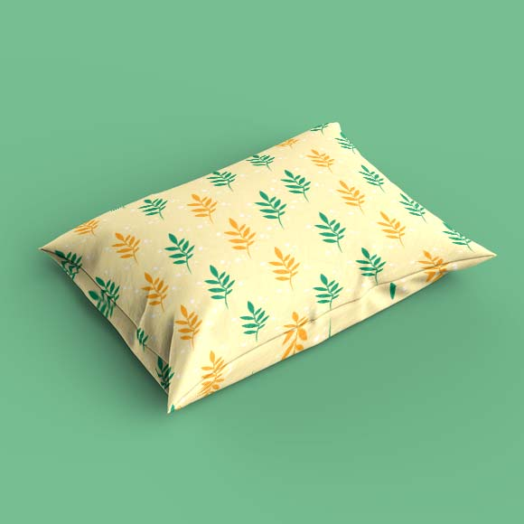ash leaves print pillow cover