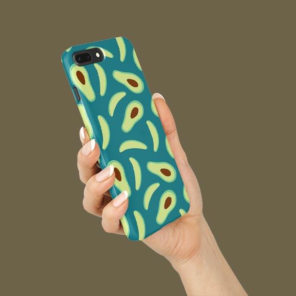 Avocado slices print phone case