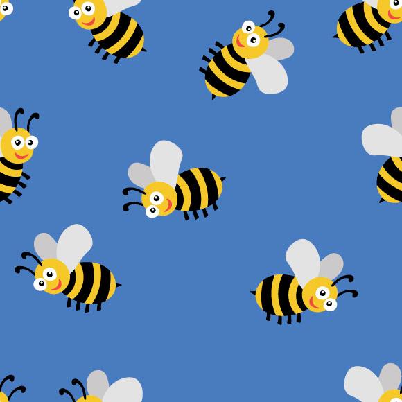 Honey Bees Vector Pattern