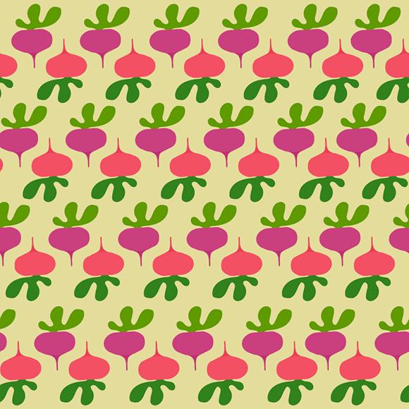 beetroot vector pattern