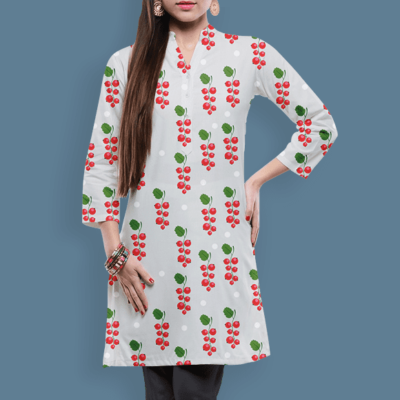berries pattern on ladies skirts