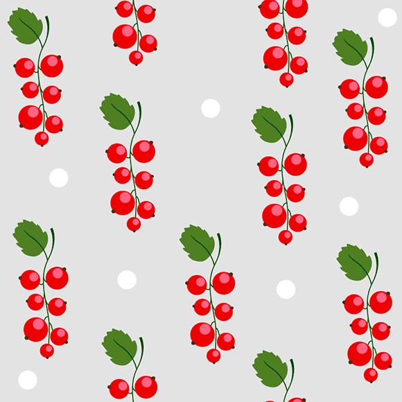 berries vector pattern