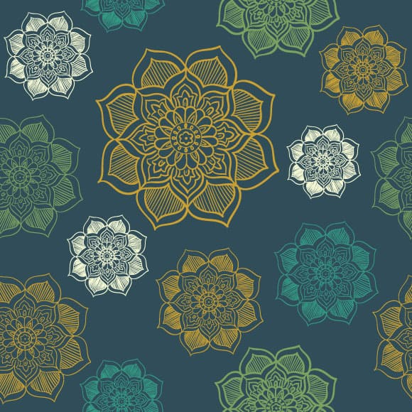 Multicolored Block Printed Pattern