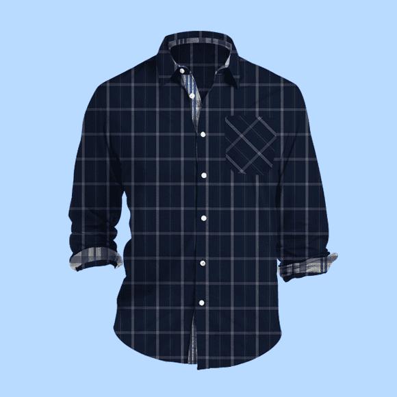 blue and white checks texture shirt, 800X800 pattern size.