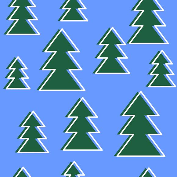 christmas tree vector pattern