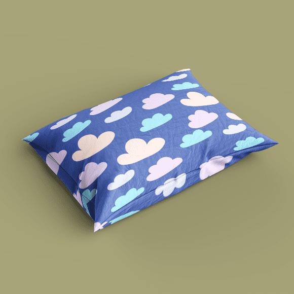Clouds on Blue Colour Pillow