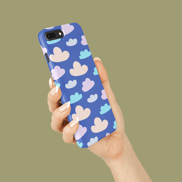 Seamless Clouds on Phone Cover