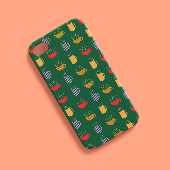 phone case with a different coffee mugs