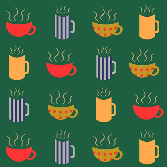 different coffee mugs pattern