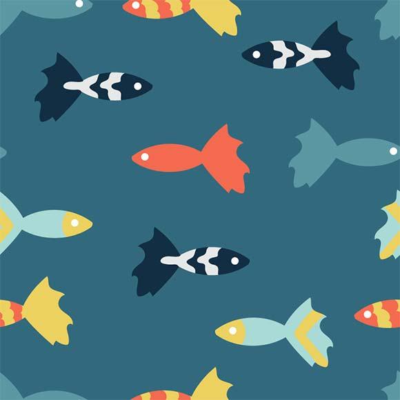 Multicolored fish pattern