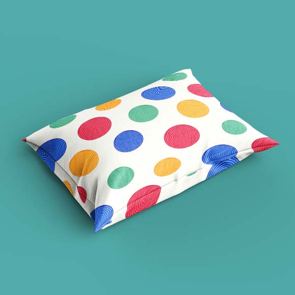 colorful swirls pillow cover