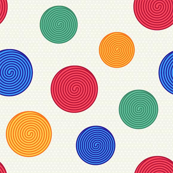 Colorful swirls vector pattern. Seamless abstract background illustration