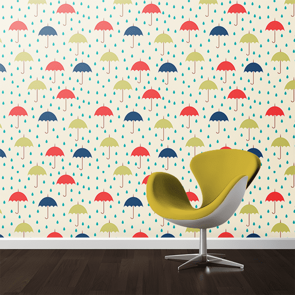 Colorful Umbrellas Wall Texture