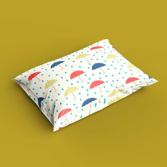 Colorful Umbrellas Pillow Cover