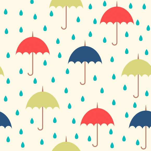 Colorful Umbrellas Seamless Pattern