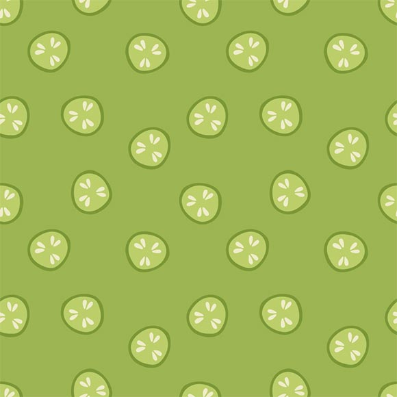Cucumber slices pattern, ai file format