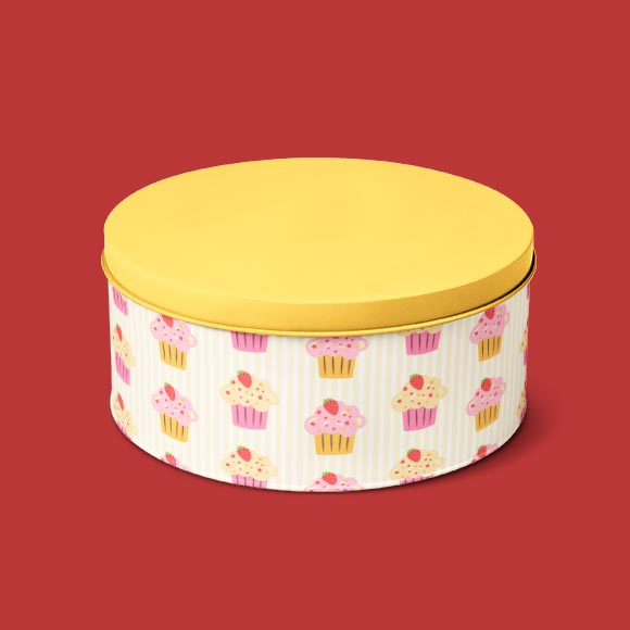 Cup cake print tiffin box