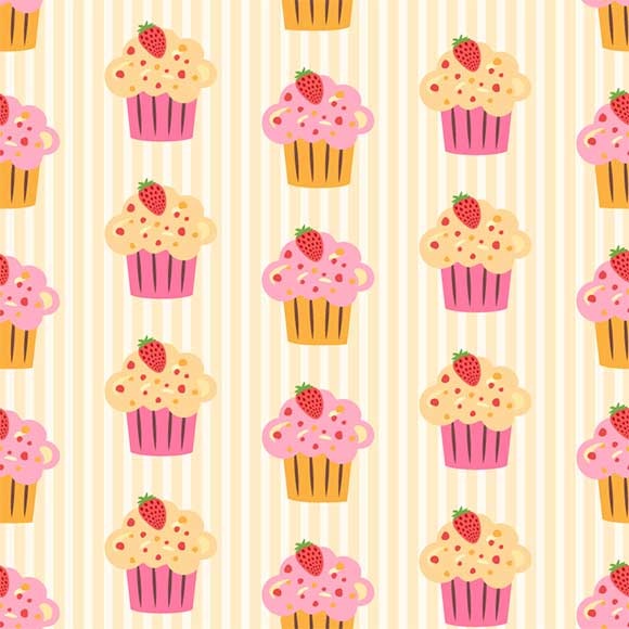 Cup cake pattern, AI file format