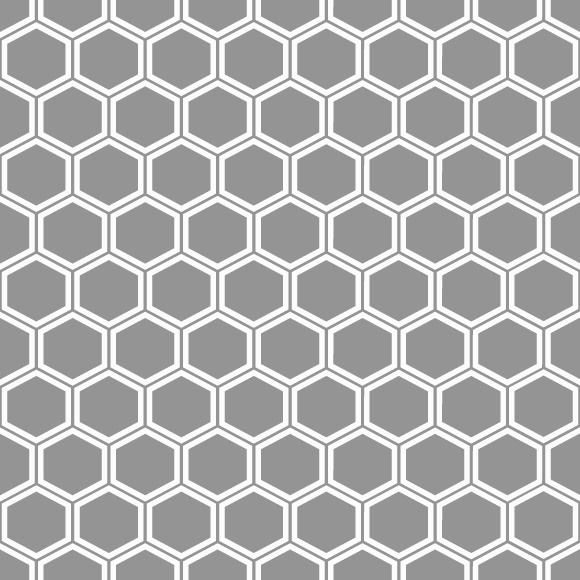 Dark Hexagon line grid vector pattern. Subtle geometric background