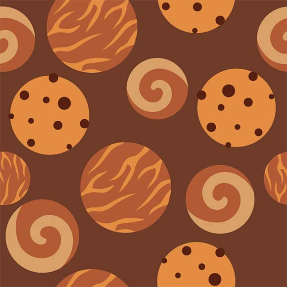 Delicious cookies pattern, eps file format.