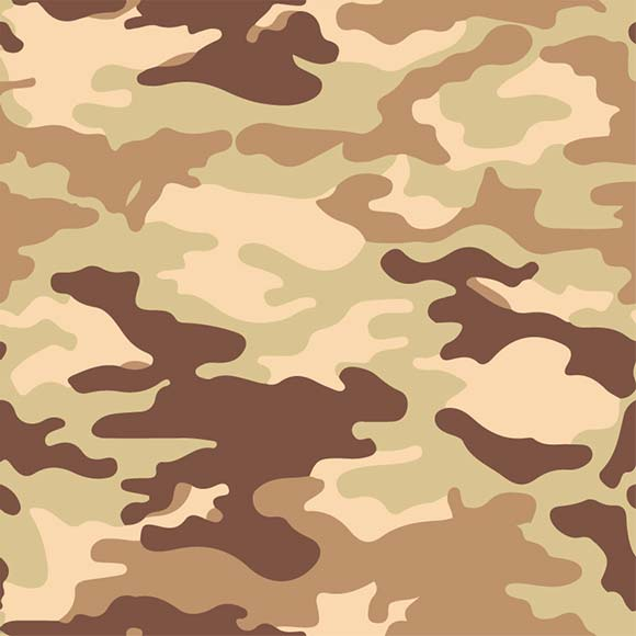 Green, brown and yellow desert camouflage seamless vector pattern