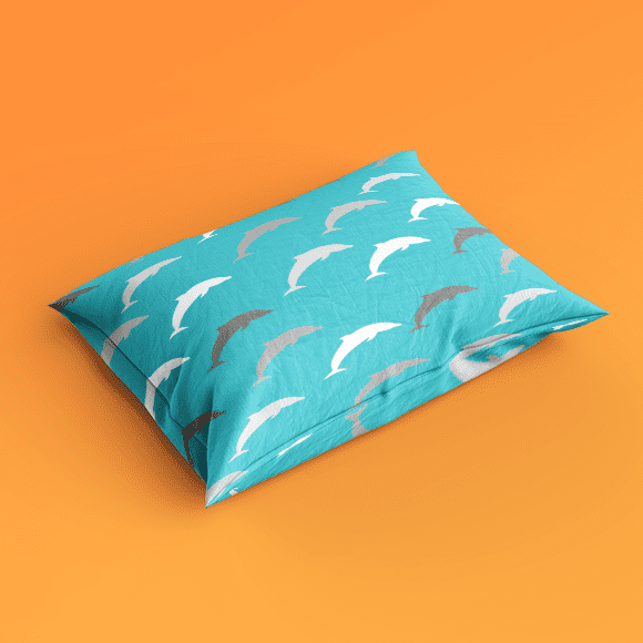 Dolphin pattern on pillow cover