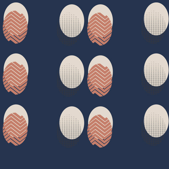 Easter eggs with abstract background design seamless pattern